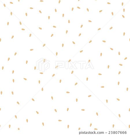 Sesame seeds seamless pattern. 23807666