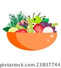 Healthy vegetable summer salad bowl. 23807744