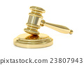 Golden Gavel, 3D rendering 23807943