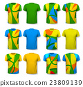 Colorful abstract male t-shirts. Design template 23809139