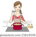 女性做飯 23810595