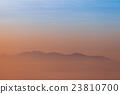 Sunrise scene with mountain at  Phu chi fa 23810700