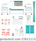 Medical equipment and furniture in hospital. 23812113