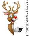 Cartoon Christmas Santas Reindeer 23815911