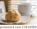 熱咖啡 糕點 咖啡 23816989