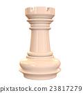체스 루크 희게 빛나는 3D 렌더링 이미지 23817279