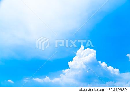 Midsummer sky Cumulonimbus cloud cloud Sky of the rainy day sky Copy space 23819989