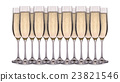 Set of champagne glasses isolated on white 23821546