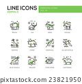 Animals - line design icons set 23821950