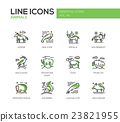 Animals - line design icons set 23821955