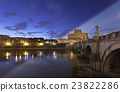 Rome Castel Sant Angelo twilight transition 23822286
