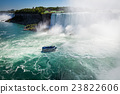 boat with tourists in Niagara Falls 23822606