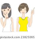 兩個女人上身女孩的聚會 23825065