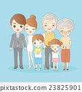cartoon family is  smling happily 23825901