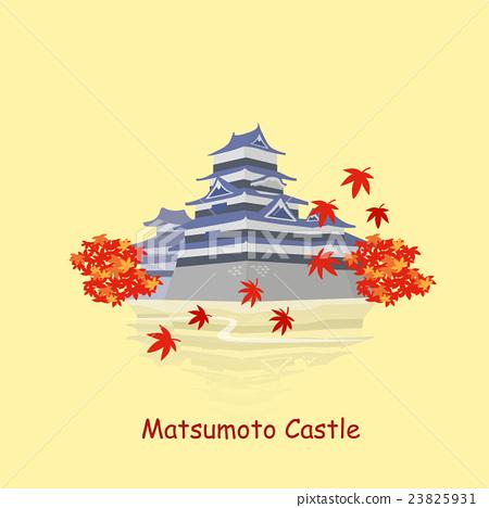 cartoon japan matsumoto castle 23825931