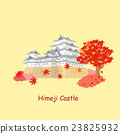 cartoon japan himeji castle 23825932