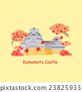 cartoon japan kumamoto castle 23825933