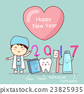 Happy new year with tooth 23825935