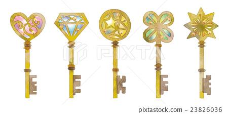 鑰匙的例證 23826036