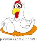 Happy White Chicken 23827493