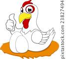 Happy White Chicken 23827494