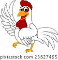 Happy White Chicken 23827495