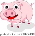 Happy Pig cartoon 23827499