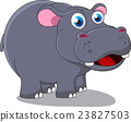Happy Cute Hippo cartoon 23827503