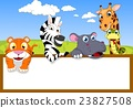 Animal cartoon With Blank sign 23827508
