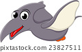 Happy Pterodactyl dinosaur flying 23827511