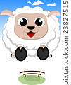 Happy Sheep cartoon Jump 23827515
