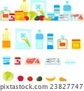 슈퍼마켓에서 파는 식료품 23827747