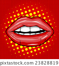 Sweet Pair of Glossy Vector Lips 23828819