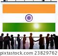India Flag Patriotism Indian Pride Unity Concept 23829762