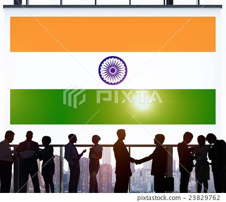 Stock Photo: India Flag Patriotism Indian Pride Unity Concept