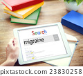 Migraine Symptoms Diagnosis Disturbed Vision Concept 23830258