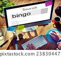 Bingo Game Luck Gambling Leisure Recreation Jackpot Concept 23830447