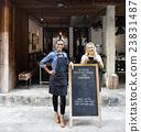 Coffee Shop Cafe Restaurant Blackboard Opening Concept 23831487
