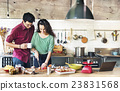 Couple Cooking Hobby Liefstyle Concept 23831568