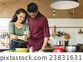 Couple Eating Food Feeding Sweet Concept 23831631