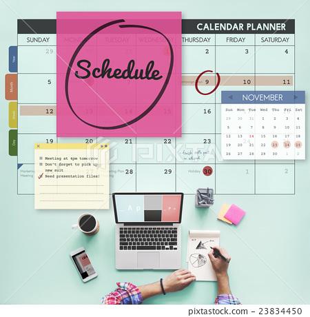Stock Photo: Schedule Calender Planner Organization Remind Concept