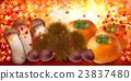 秋叶栗子蘑菇柿子 23837480