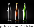 Transparent glass bottle for design package Vector 23839164
