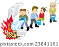 earthquake, bucket brigade, person 23841101