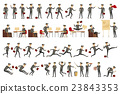 Collection of business people illustrations in 23843353