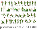 Large vector set of businessman character poses 23843380