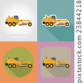grader for road works flat icons vector 23844218