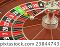 Casino roulette, closeup. 3D rendering 23844743