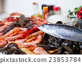 raw seafoods and seasonings 23853784