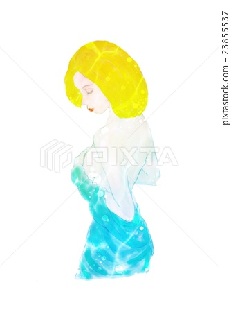 Beautiful woman in her dress face down 2 23855537